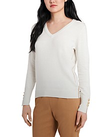 Clara Metallic-Trim Sweater, Created for Macy's