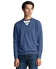 Men's Cotton V-Neck Sweater