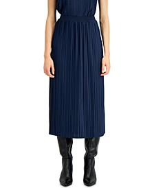 Pleated A-Line Midi Skirt, Created for Macy's
