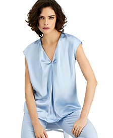 Cap-Sleeve Inverted-Pleat Top, Created for Macy's