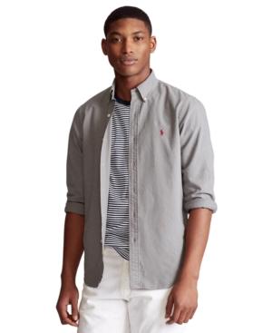 Polo Ralph Lauren Shirts MEN'S BIG & TALL GARMENT-DYED OXFORD SHIRT