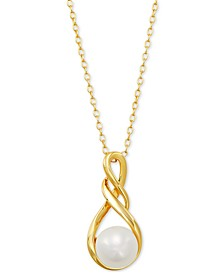 "Cultured Freshwater Pearl (8-1/2mm) 18"" Pendant Necklace, Created for Macy's"