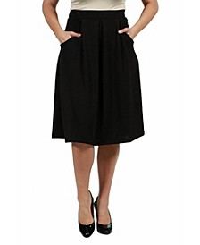 Women's Plus Size Classic Knee Length Skirt
