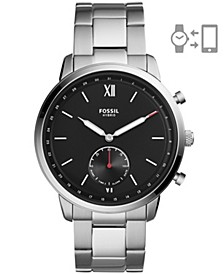 Men's Hybrid Smart Watch Neutra Silver-Tone Bracelet Watch 44mm