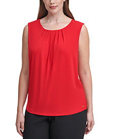 Calvin Klein Plus Size Sleeveless Top