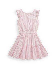 Little Girls Striped Tiered Dress