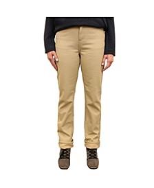 Women's Canvas Fleece Lined 5 Pocket Pant