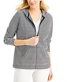 Zip-Front Striped Hoodie, Created for Macy's