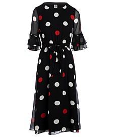 Plus Size Dot-Print Dress