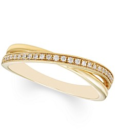 Diamond Crossover Ring (1/10 ct. t.w.) in 10k Gold