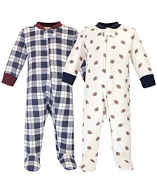 Baby Girls 2 Piece Premium Quilted Zipper Sleep and Play