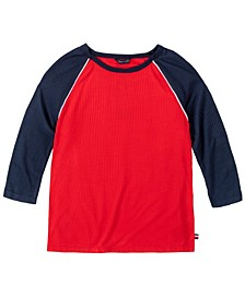 Big Girl's Colorblock 3/4 Sleeve Rib Tee