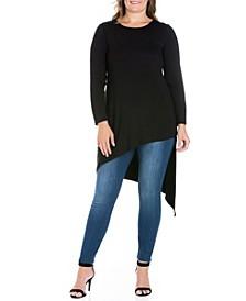 Women's Plus Size Asymmetrical Tunic Top