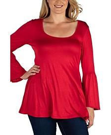 Women's Plus Size Flared Tunic Top