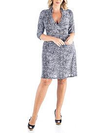 Women's Plus Size Leopard Print A-Line Dress