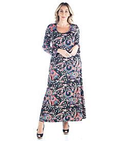 Women's Plus Size Paisley Print Maxi Dress