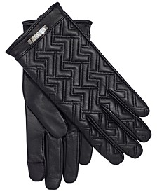 Leather Logo Touch Gloves