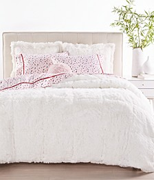 Shaggy Faux Fur Bedding Collection, Created for Macy's