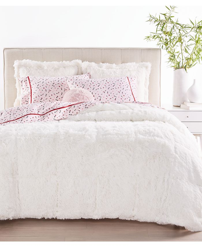 Whim by Martha Stewart - Shaggy Fur 3-Pc. Comforter Sets, Created for Macy's