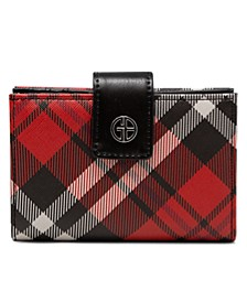Framed Indexer Saffiano Plaid Wallet, Created for Macy's