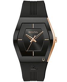 Men's Latin Grammy Black Silicone Strap Watch 40.5mm