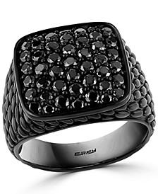 EFFY® Men's Black Spinel Cluster Ring in Black PVD over Sterling Silver