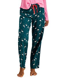 Printed Cotton Flannel Pajama Pants, Created for Macy's