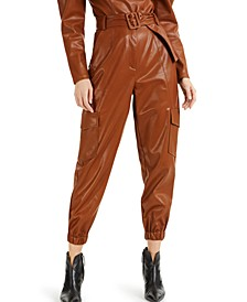 CULPOS X INC Faux-Leather Cargo Pants, Created for Macy's