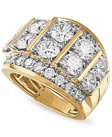 Men's Diamond Large Cluster Statement Ring (7 ct. t.w.) in 10k Gold