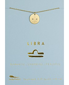 Zodiac Gold-Tone Charm Necklace, Libra