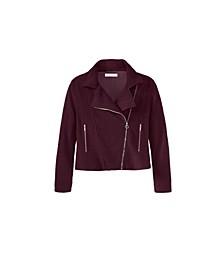 Women's Plus Size  Sherpa Moto Jacket