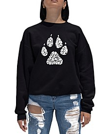 Women's Word Art Crewneck Dog Mom Sweatshirt