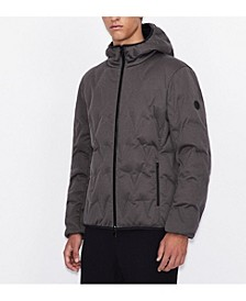 Contrasting Logo Down Jacket