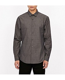 Micro Dotted Design Button Down Shirt