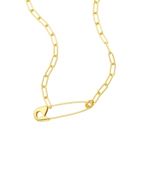 Safety Pin Paper Clip Necklace
