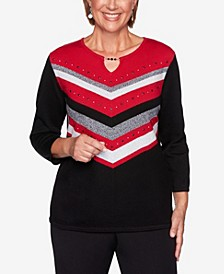 Women's Plus Size Knightsbridge Station Chevron Sweater