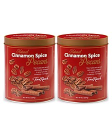 Cinnamon Spiced Pecans Embossed Tin, Pack of 2