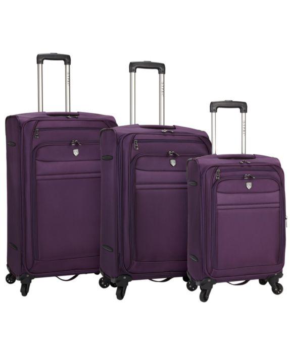 Travelers Club Lexington 3pc Softside Luggage Set, Purple