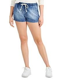 Juniors' Pull-On Jean Shorts