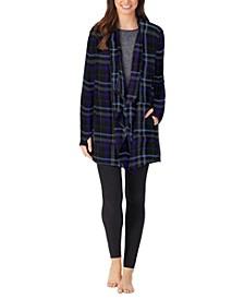 Fleece Open-Front Loungewear Wrap