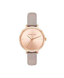 Women's Charley Rose Gold-Tone Leather Watch 38mm
