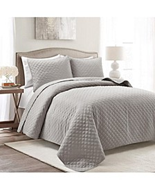3-Piece Microfiber Full/Queen Quilt Sets