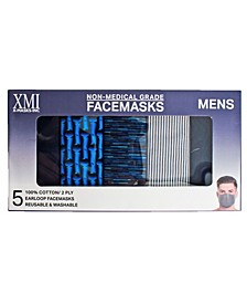 Adult Boxed Fashionable Face Mask, Pack of 5