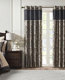 "Aubrey Paisley 50"" x 84"" Insulated Blackout Curtain Panel"