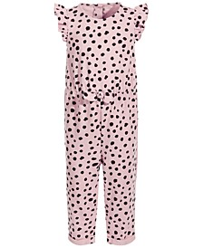 Baby Girls Cheetah Jumpsuit, Created for Macy's