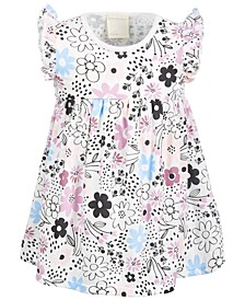 Baby Girls Spotty Floral Cotton Dress, Created for Macy's