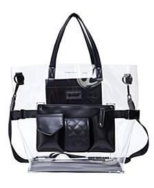 Clear Retro Tote Bag