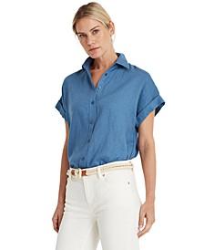 Linen Dolman-Sleeve Top