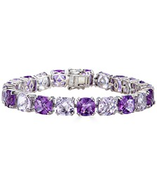 Pink and Purple Amethyst Tennis Bracelet (38 ct. t.w.) in Sterling Silver (Also in Blue Topaz)