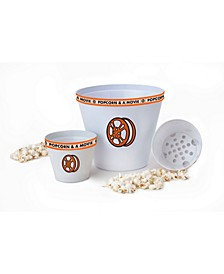 Popcorn and A Movie Bowl Set, 3 Pieces